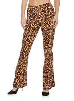 Leopard Flared Pants - 1061074015951