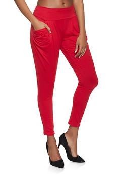 Soft Knit Harem Pants - 1061074015956