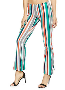 Striped Flared Pants - 1061074015957