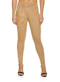 Pull On Faux Suede Pants - 1061074015960