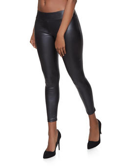 Faux Leather Leggings - 1061074015961