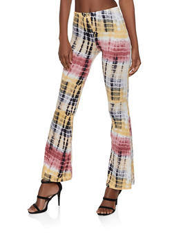 Tie Dye Flared Pants - 1061074015962