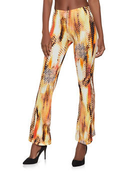 Snake Print Flared Pants - 1061074015965