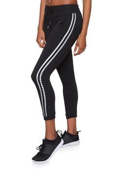 Varsity Stripe Fleece Lined Joggers - 1061074342508