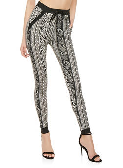 Soft Knit Printed Joggers - 1061074640911