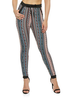 Printed Soft Knit Joggers - 1061074640912