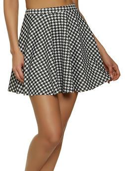 Houndstooth Mini Skirt - 1062020622174