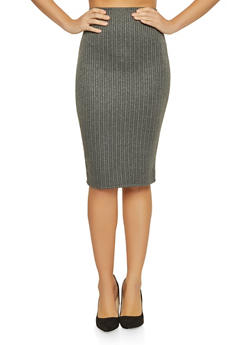 Shimmer Striped Pencil Skirt - 1062020623958