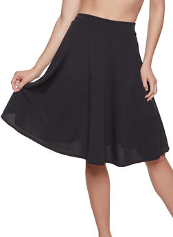 Solid Skater Skirt - 1062020624014