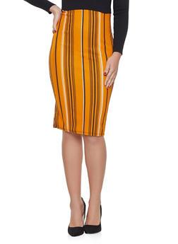 Striped Pencil Skirt - 1062020625116