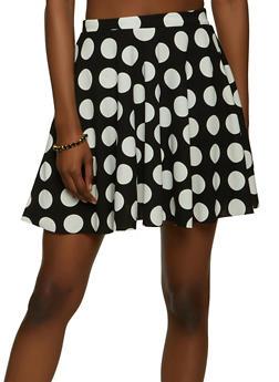 Mini Polka Dot Skater Skirt - 1062020626882