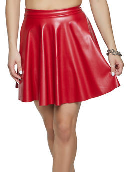 Faux Leather Mini Skirt - 1062020628890