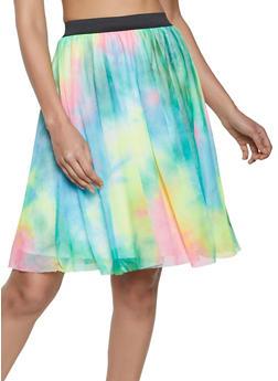 Tie Dye Mesh Skater Skirt - 1062020629298