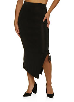 Ruched Drawstring Skirt - 1062062121235