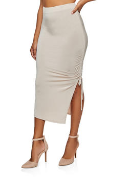 Ruched Drawstring Skirt - 1062062121235