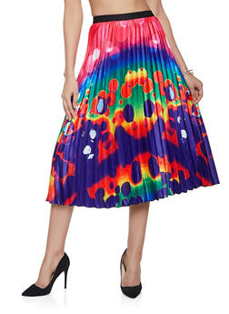 Tie Dye Pleated Skirt - 1062062122903