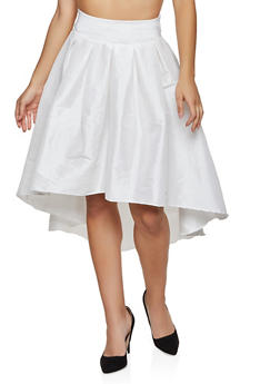 Taffeta High Low Skater Skirt - 1062062122925