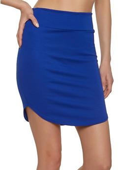 Round Hem Ponte Skirt - 1062062415056