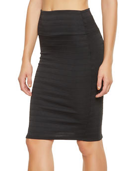 Back Slit Bandage Pencil Skirt - 1062062415130