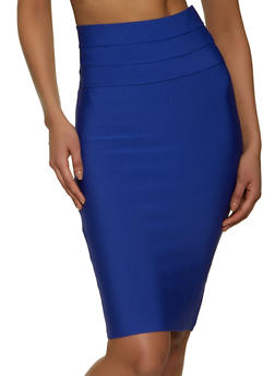 Pintuck Bandage Pencil Skirt - 1062062700989