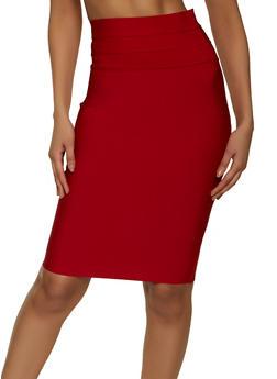 Pintuck Bandage Pencil Skirt - 1062062700989