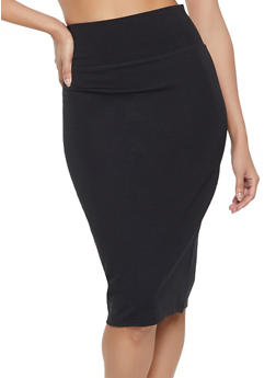 High Waisted Ponte Pencil Skirt - 1062062701599