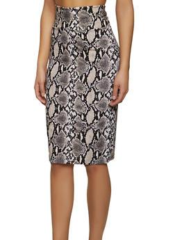 Snake Print Pencil Skirt - 1062062705199