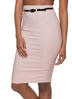Belted Pencil Skirt - 1062062708001