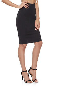 Ponte Knit Pencil Skirt - 1062062709951