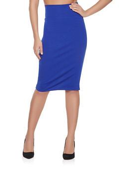 Ponte Knit Pencil Skirt - 1062062709951