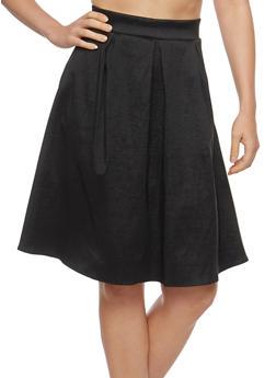 Pleated Skater Skirt - 1062074011514
