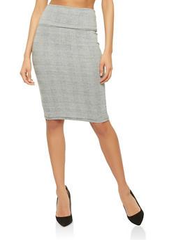 Plaid Pencil Skirt - 1062074011527