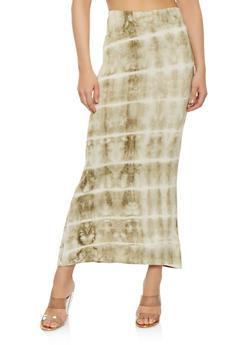 Tie Dye Maxi Skirt - 1062074011536