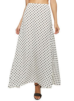 Polka Dot Maxi Skirt - 1062074011540