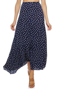Polka Dot Maxi Skirt - 1062074011540