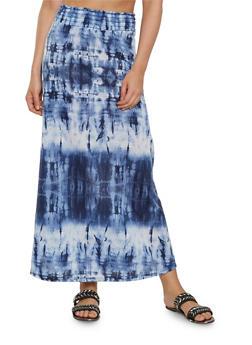 Tie Dye Maxi Skirt - 1062074011548
