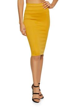 High Waisted Pencil Skirt - 1062074011574