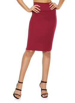 Ponte Knit Pencil Skirt - 1062074011575