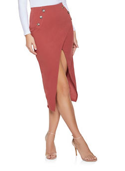 Asymmetrical Midi Pencil Skirt - 1062074011580