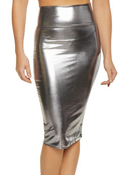 Metallic Pencil Skirt - 1062074011605