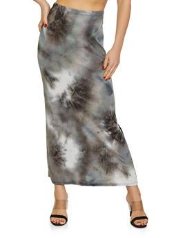 Tie Dye Maxi Skirt - 1062074011633