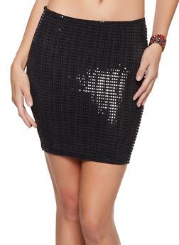 Lurex Mini Skirt - 1062074011671