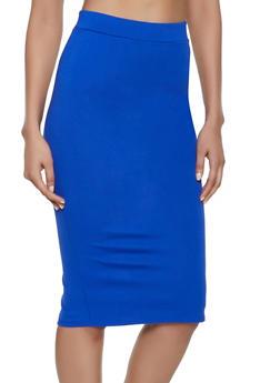 Ponte Back Slit Skirt - 1062074016165