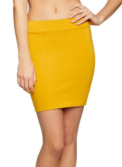 Solid Ponte Mini Skirt - 1062074016167