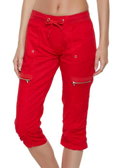 Zip Pocket Capris - 1066038342212