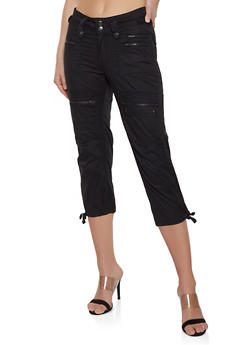 Black Capri Cotton Pants
