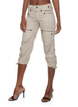 931a084aed Zipper Capri Cargo Pants - 1066038349129