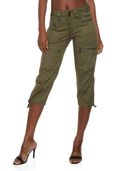 e3541736c5 Zipper Capri Cargo Pants - 1066038349129
