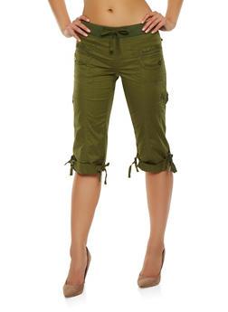 Cargo Capri Pants - 1066038349203