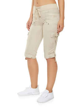 Cargo Capri Pants - 1066038349206